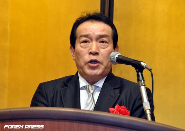 大阪堂島商品取引所 理事長 岡本安明氏による祝辞