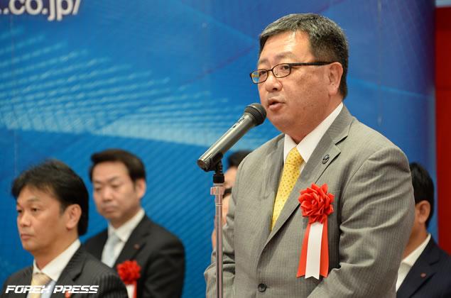 S&Pダウ・ジョーンズ・インデックス日本オフィス統括責任者 牧野氏による祝辞